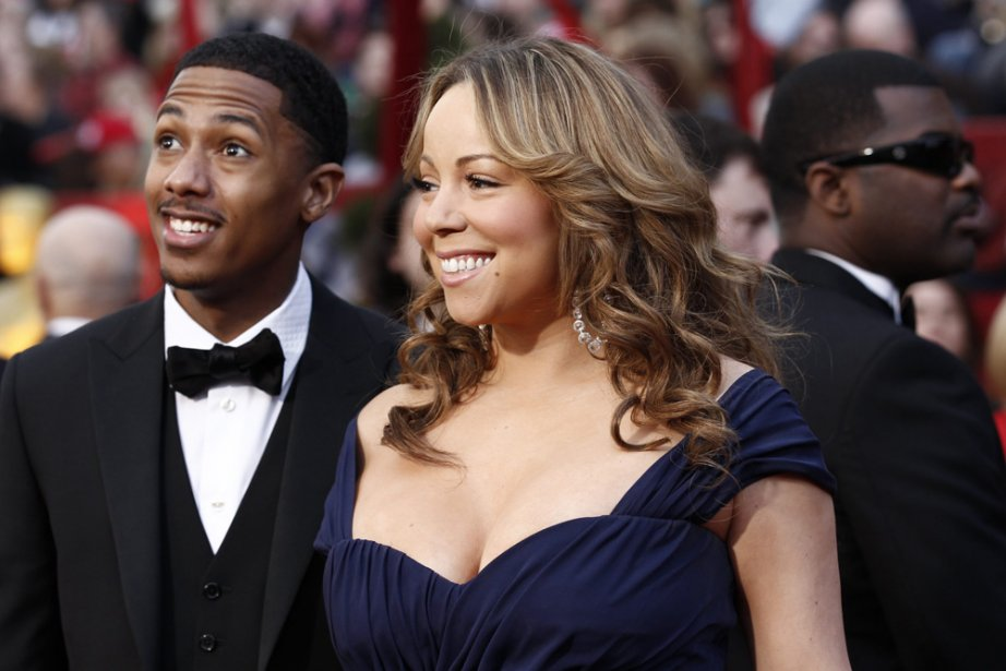 Mariah Carey et son époux Nick Cannon photographiés... (Photo: archives AP)
