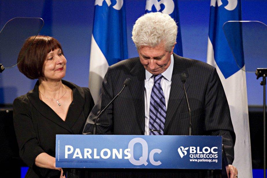 Gilles Duceppe, la mine défaite, a annoncé lundi... (Photo: Patrick Sanfaçon, La Presse)