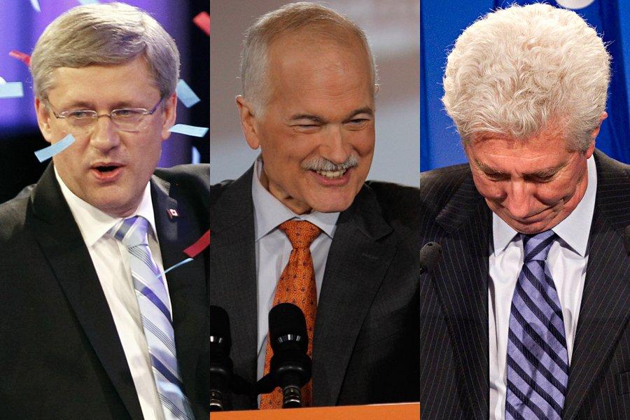 Le Parti conservateur de Stephen Harper a remporté... (Photos: Reuters, Ivanoh Demers et Patrick Sanfaçon, La Presse)