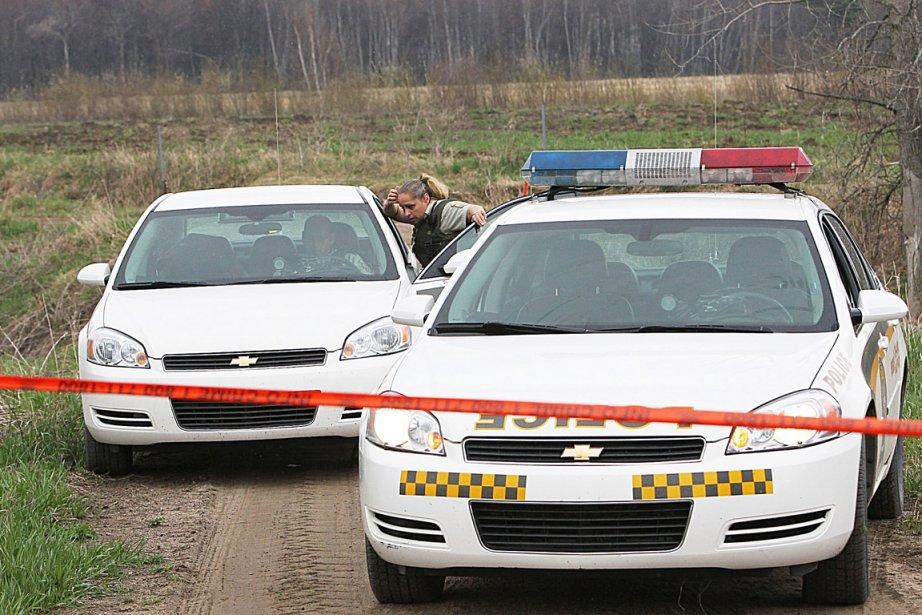 Les policiers de la Sûreté du Québec ont... (Photo: Patrick Sanfaçon, La Presse)