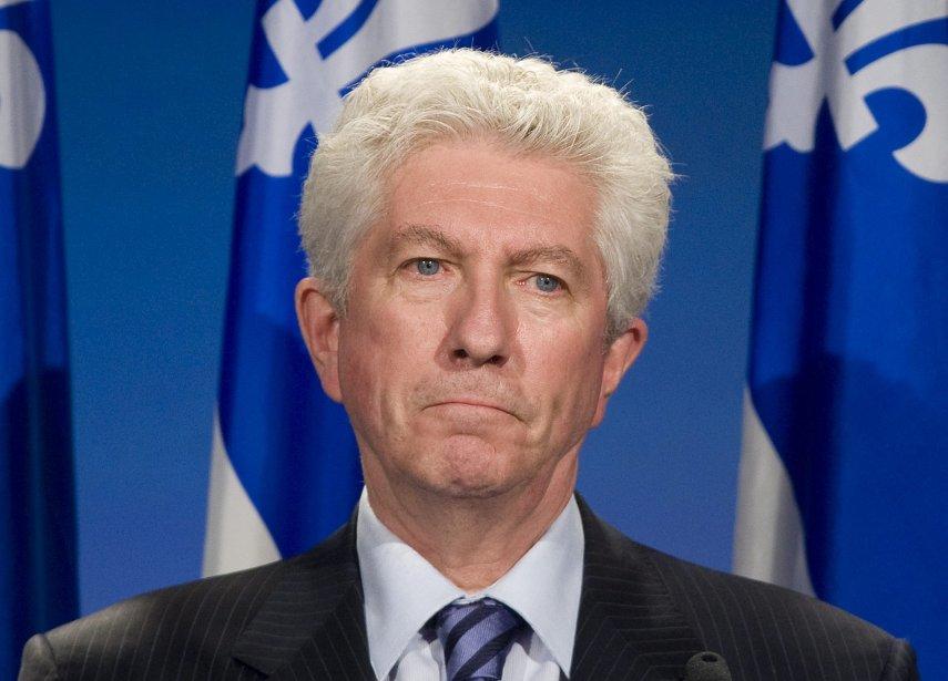 Gilles Duceppe, déçu, s'adresse aux militants de son... (PHOTO: GRAHAM HUGHES, PC)