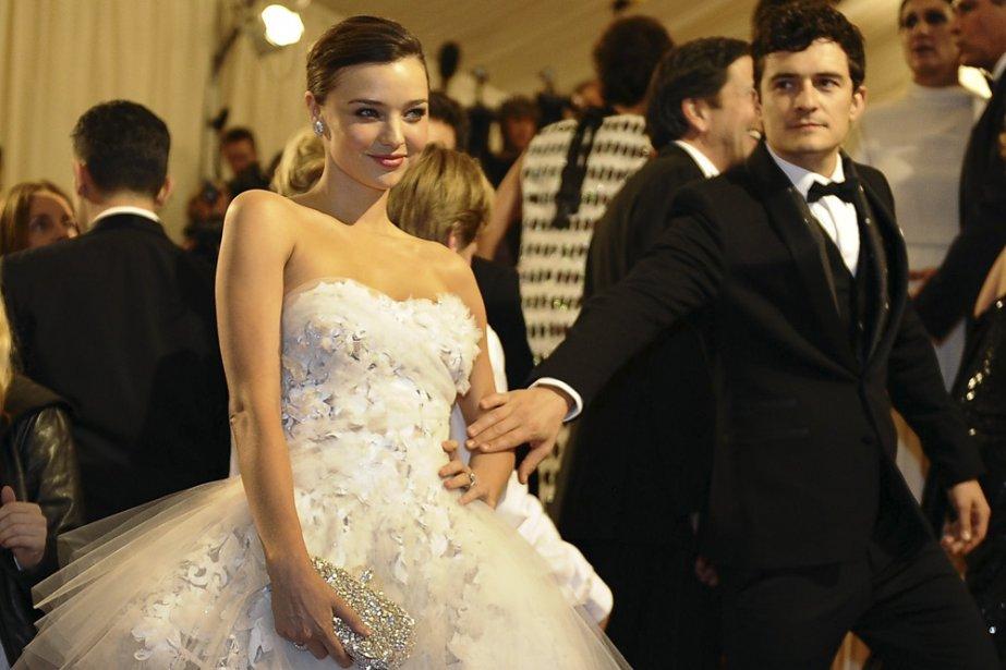 Miranda Kerr et Orlando Bloom... (Photo: AFP)