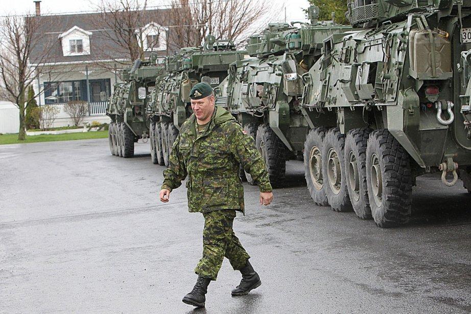 Les soldats de l'armée canadienne commençaient à se... (Photo: Patrick Sanfaçon, La Presse)