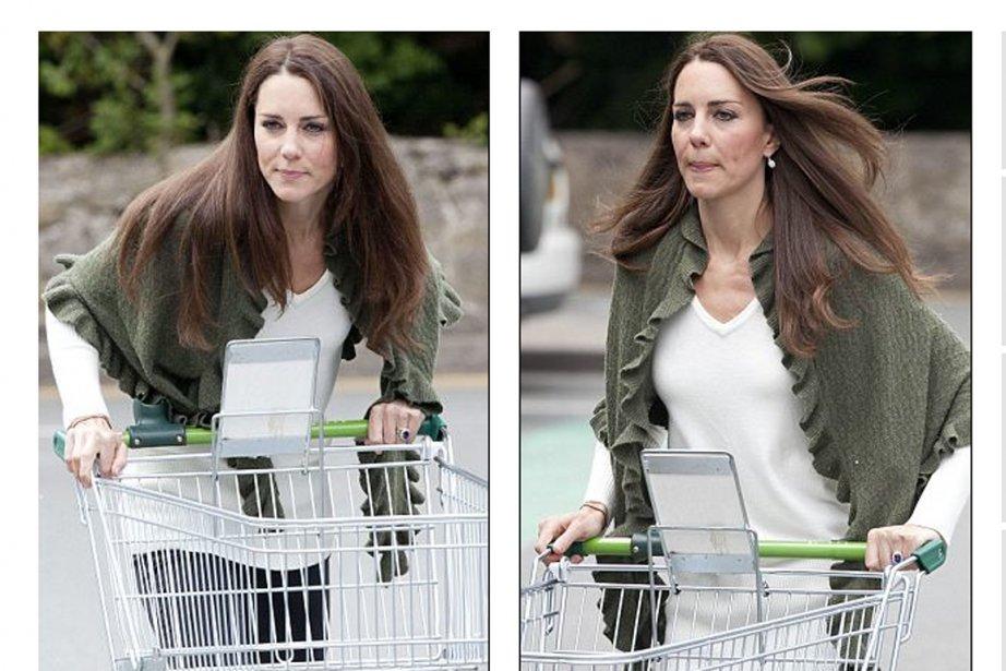 Kate Middleton, habillée un poil plus simplement qu'il... (Images: dailymail.co.uk)