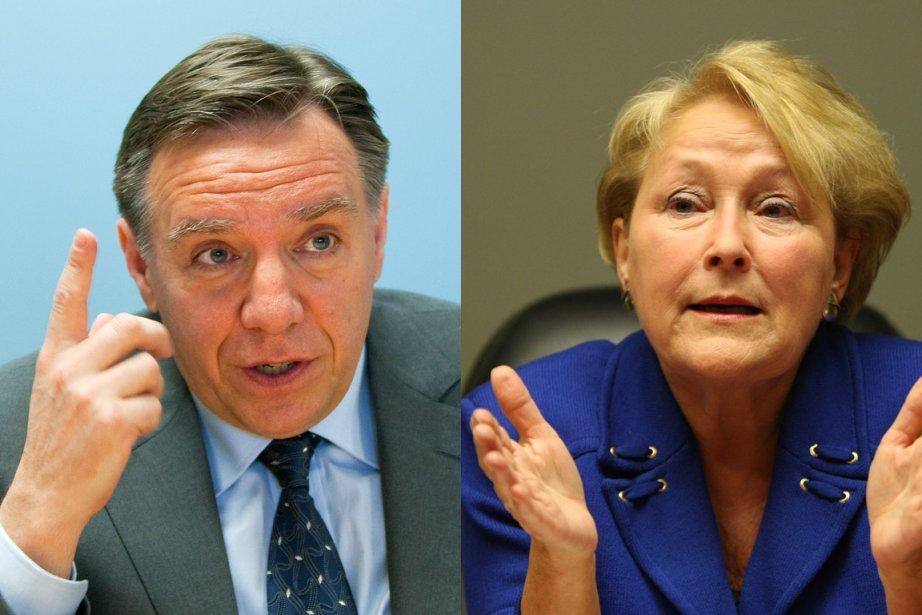 François Legault et Pauline Marois...