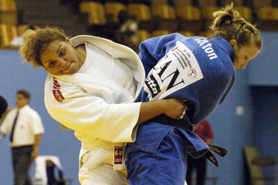 Amy Cotton (en bleu) est classée 21e au... (Photo: André Tremblay, Archives La Presse)
