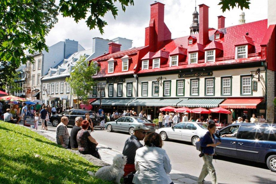 Une rue du Vieux-Québec.... (Photothèque Le Soleil)
