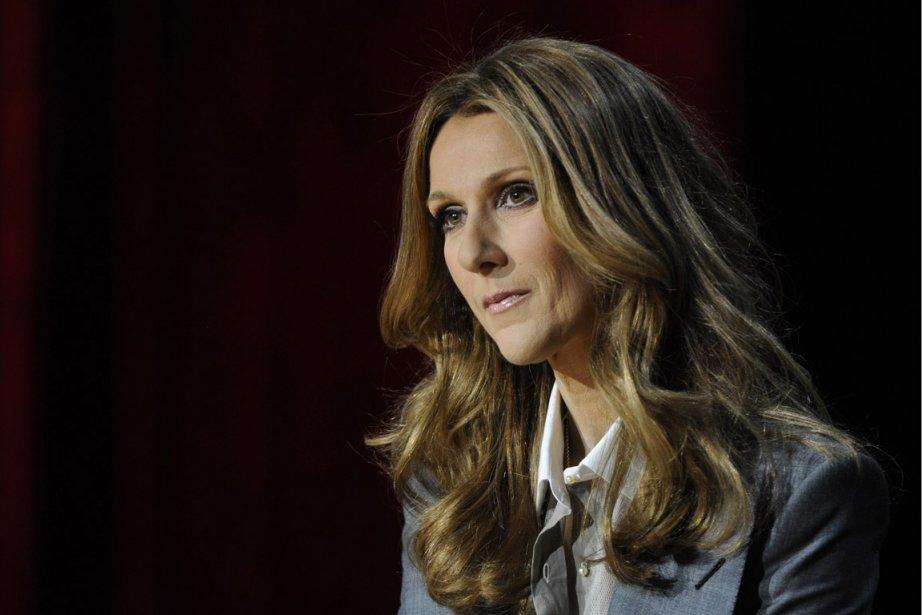 Céline Dion lors d'une conférence de presse à... (Photo Bernard Brault, La Presse)