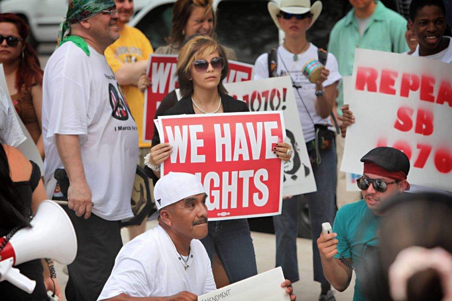 Dans l'Arizona, où une loi similaire a été... (Photo: Matt York, Archives AP)