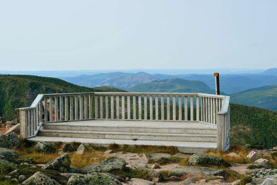 Le mont Xalibu, en Gaspésie...