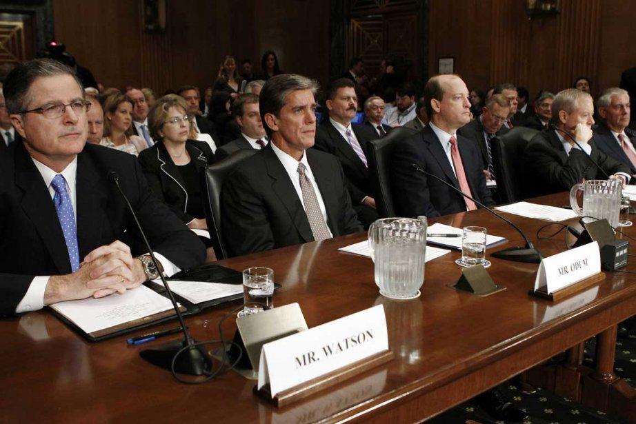 Outre le patron d'Exxon Mobil, l'audition devant la... (Photo Reuters)