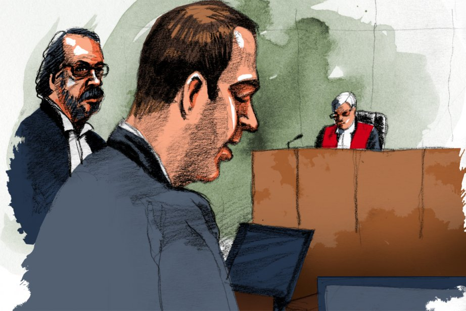 Guy Turcotte subit son procès pour le meurtre... (Illustration: André Rivest, La Presse)