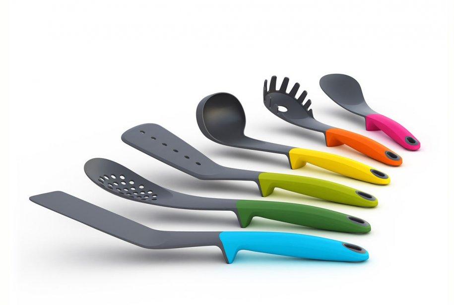 Cuillères et spatules Joseph Joseph chez Design clinique... (Photo fournie par Design Clinique)