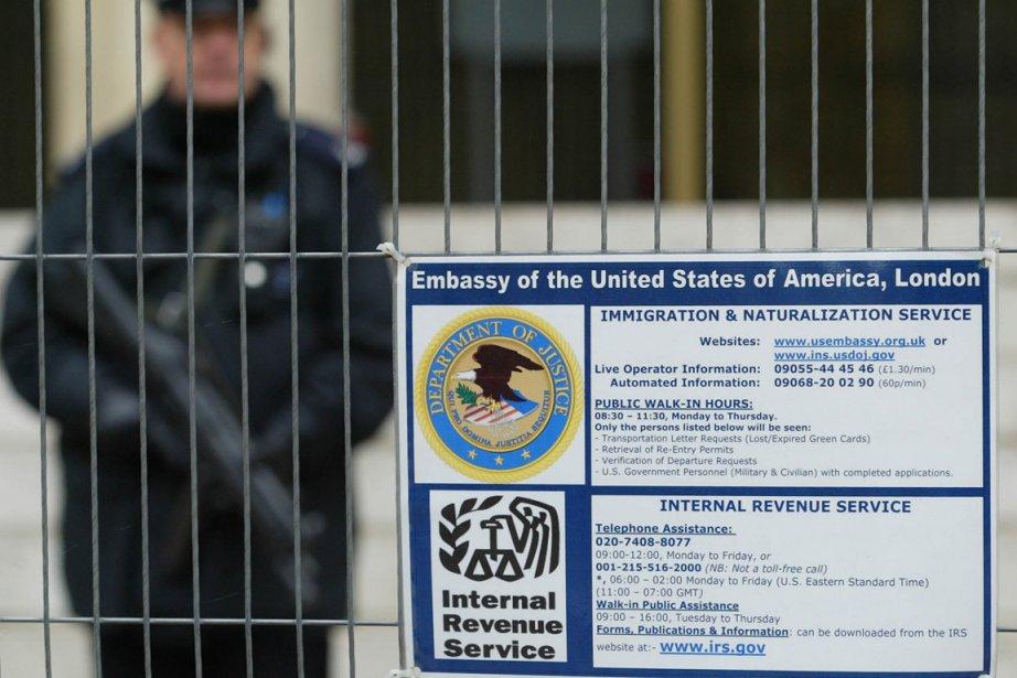 L'embassade des États-Unis à Londres... (Photo: AP)