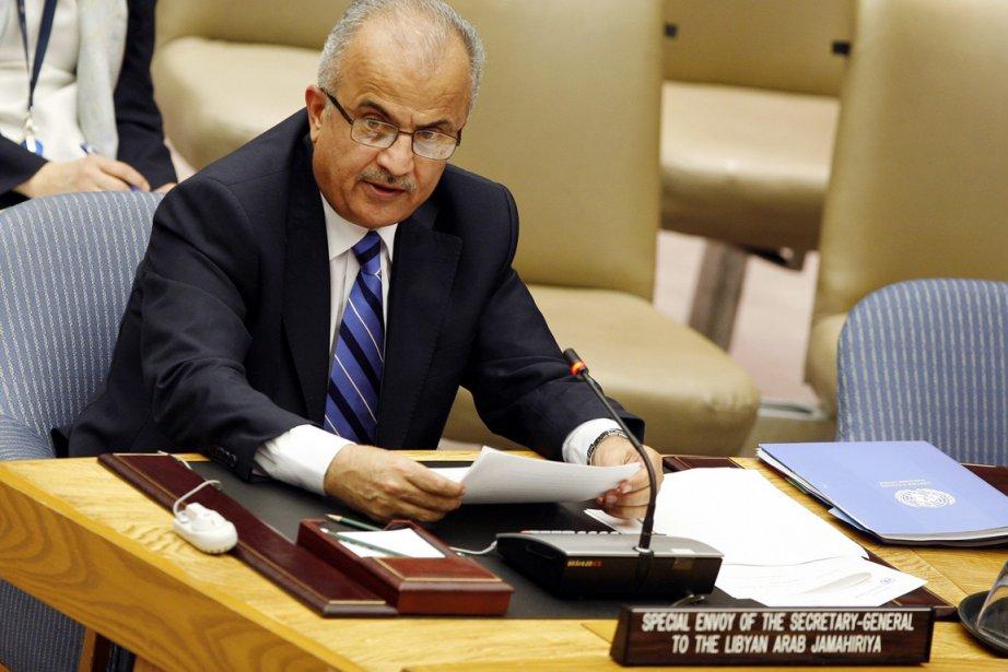 L'envoyé spécial de l'ONU, Adbel-Elah al-Khatib... (Photo AP)
