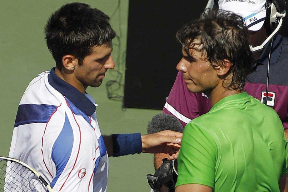 Djokovic a battu Nadal pour les titres à... (Photo Associated Press)