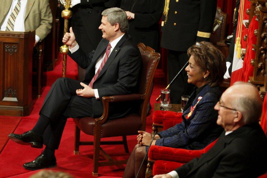 Sous les yeux de Michaëlle Jean, alors gouverneure... (photo archives PC)