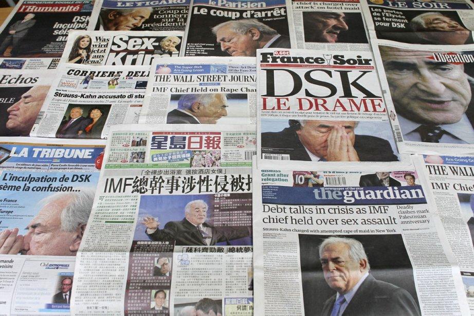 L'affaire DSK s'est retrouvée  à la une... (Photo AFP)