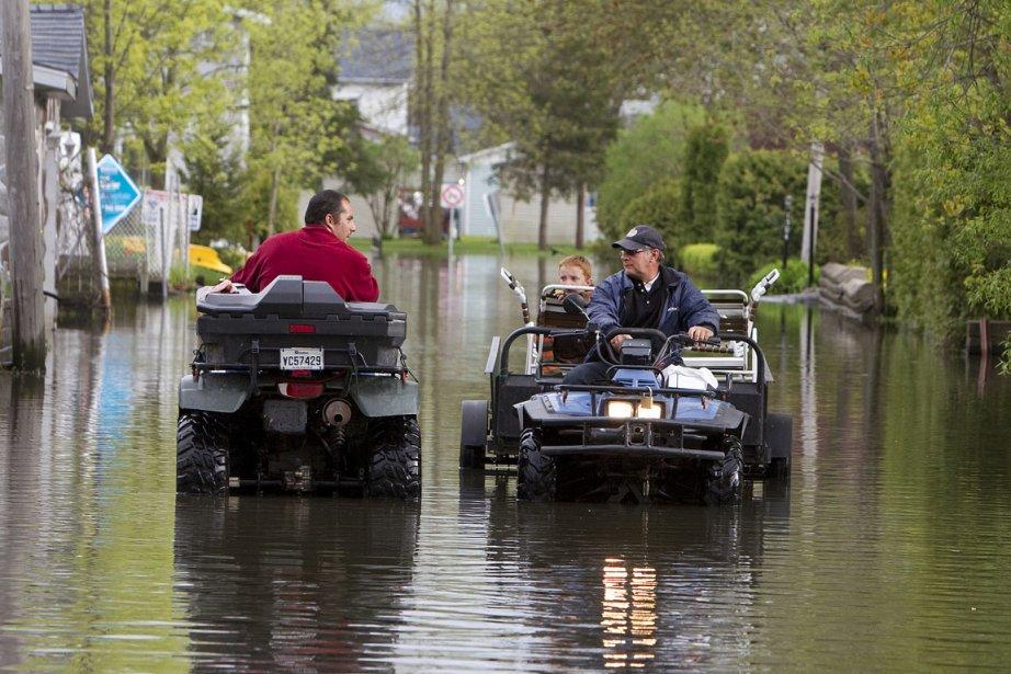 La remontée des eaux du Richelieu a donné... (Photo Robert Skinner, La Presse)