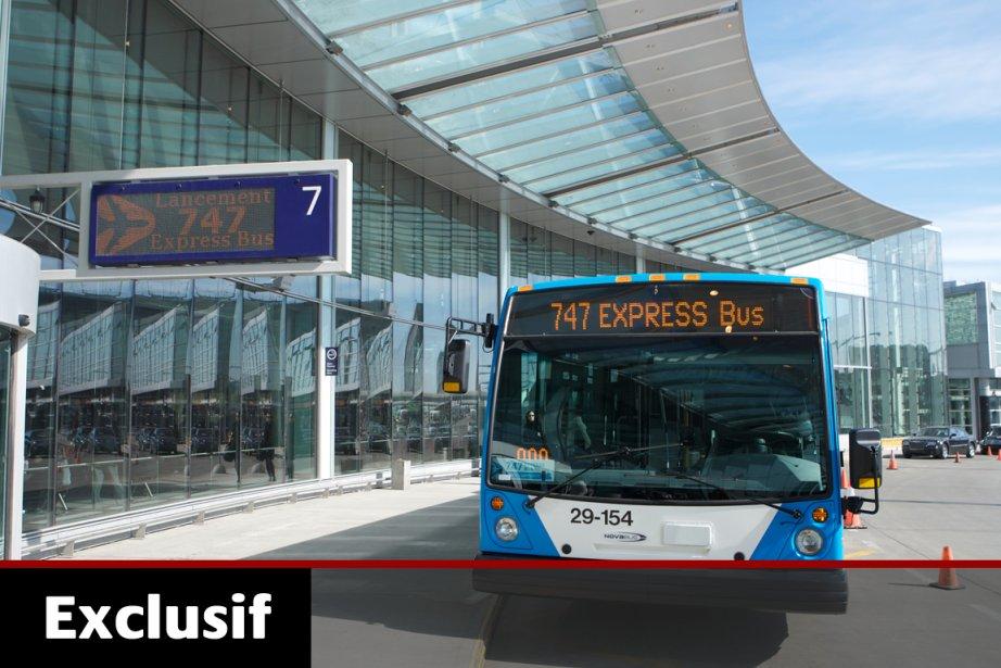Le service de navette en autobus actuellement en... (Photo: Martin Chamberland, Archives La Presse)
