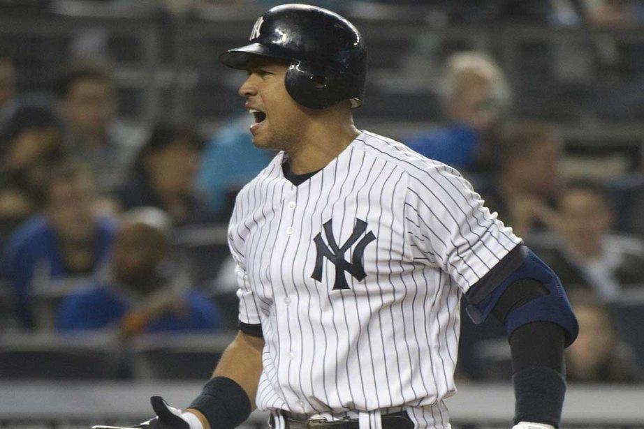 Alex Rodriguez a cogné une longue balle et... (Photo Reuters)
