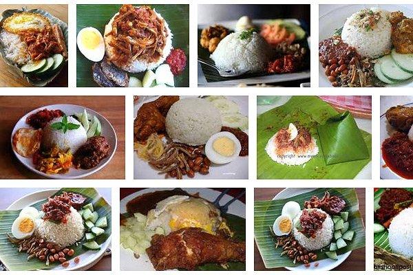 Des photos de nasi lemak, sur Google Images.... (www.google.ca)