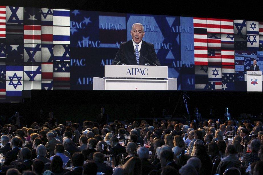 Benjamin Nétanyahou s'exprimait ce lundi à Washington lors... (Photo Reuters)