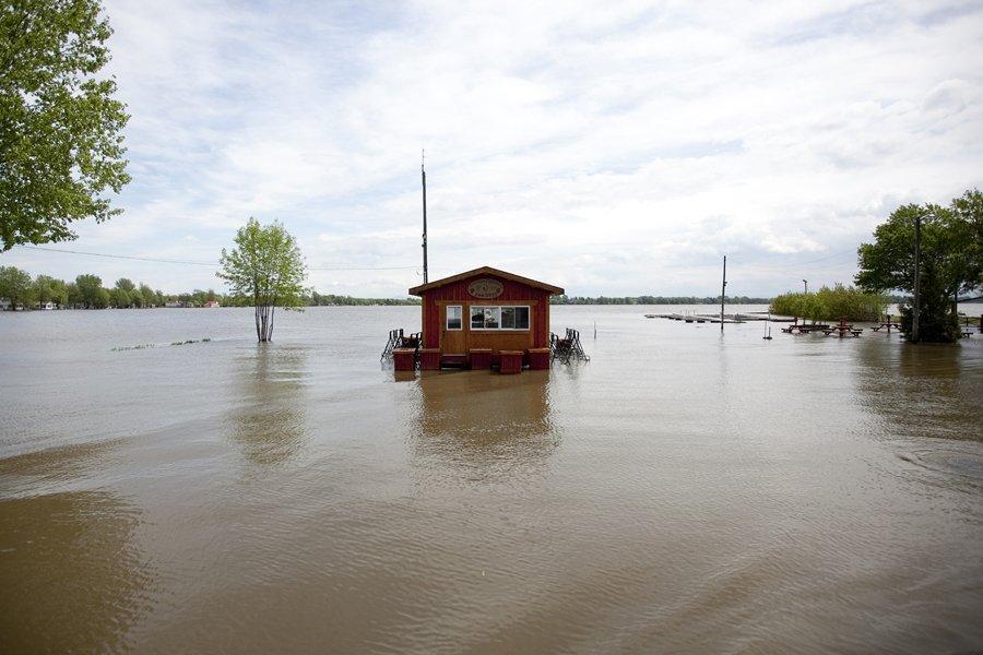 La Sécurité civile prévoit que l'eau de la... (Photo: Marco Campanozzi, La Presse)