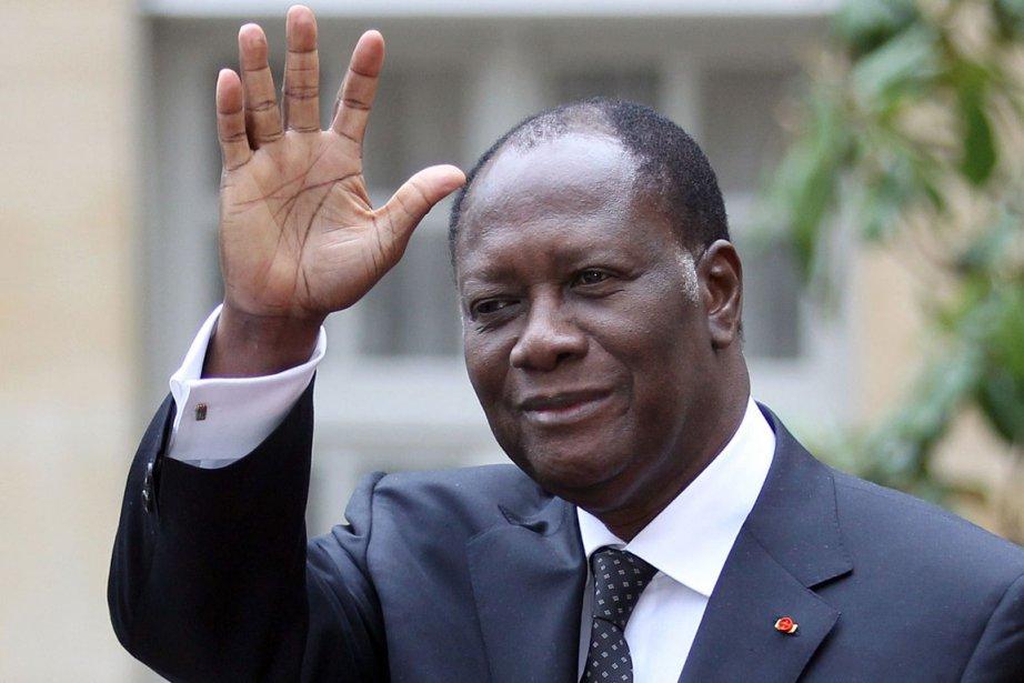 Le président de la Côte d'Ivoire Alassane Ouattara... (Photo: AFP)
