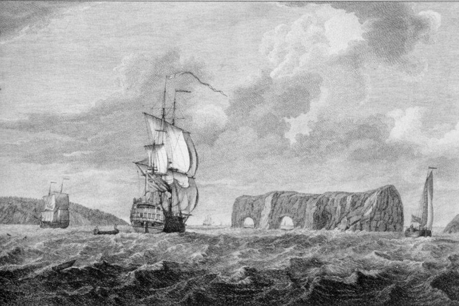 Champlain le navigateur est passé des dizaines de... (Illustration tirée du livre Le rêve de Champlain)