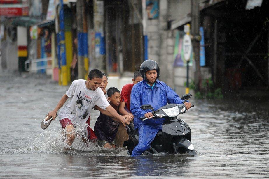Le typhon Songda a déjà fait des dommages... (Photo: AFP)