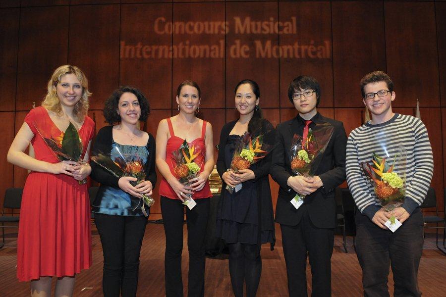Les six finalistes du Concours international de piano:... (Photo: Gunther Gamper)