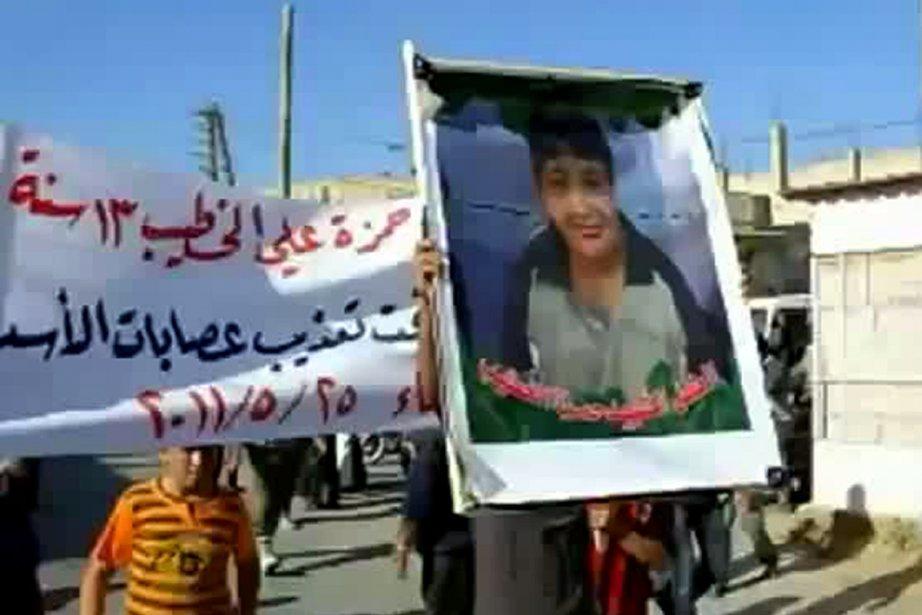 Le corps de Hamzeh al-Khatib a été retrouvé... (Photo: AFP/YouTube)