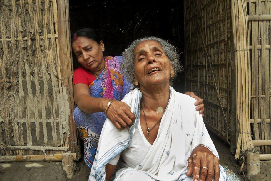 La soeur de Mahendra Nath Das tente de... (Photo: Sunil Das, AP)