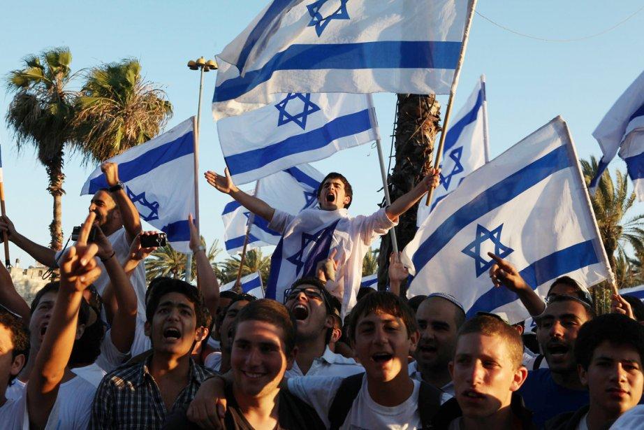 «Plus de 40000 Israéliens» venus de tout Israël... (Photo: Gali Tibbon, AFP)