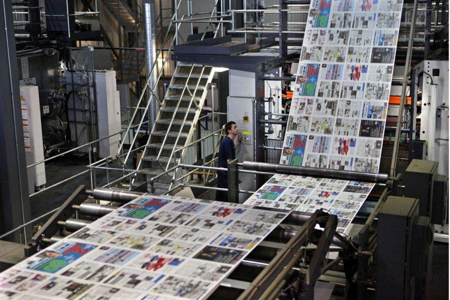 Imprimerie de Transcontinental, à Anjou.... (Photo Robert Skinner, La Presse)