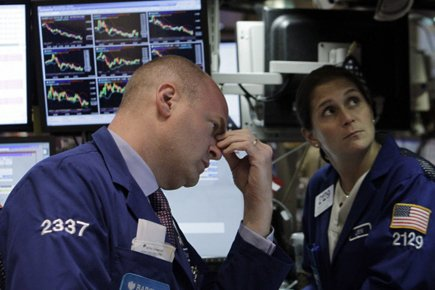Sur Wall Street, la moyenne Dow Jones des... (Photo: Reuters)