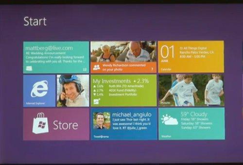 Un aperçu de Windows 8...