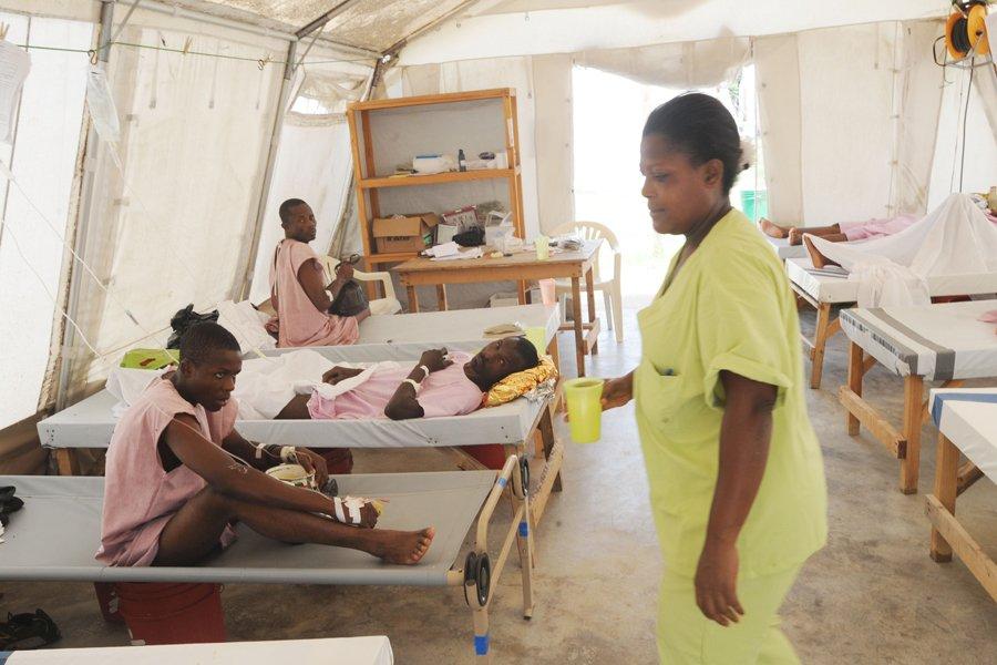 L'épidémie de choléra s'était calmée, depuis l'hiver. Au... (Photo: AFP)