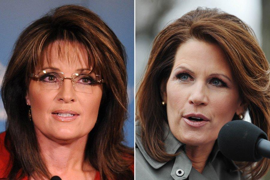 Sarah Palin et Michele Bachmann pourraient briguer la... (Photo: AFP)