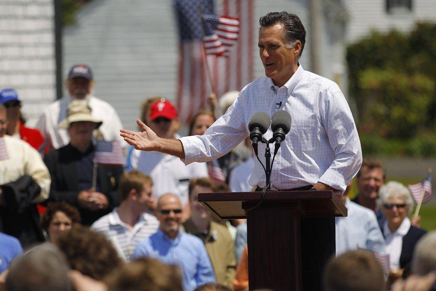 Mitt Romney a annoncé sa candidature dans une... (Photo: Reuters)