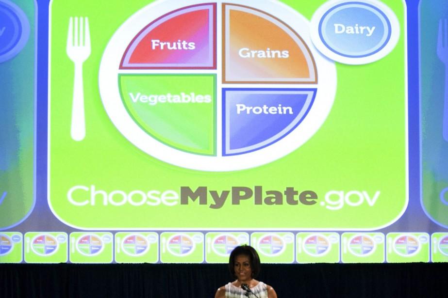 Michelle Obama milite pour une alimentation saine. L'année... (Photo archives AFP)