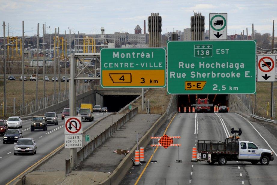 Le projet de réfection du tunnel Louis-Hippolyte-La Fontaine... (Photo Bernard Brault, archives La Presse)