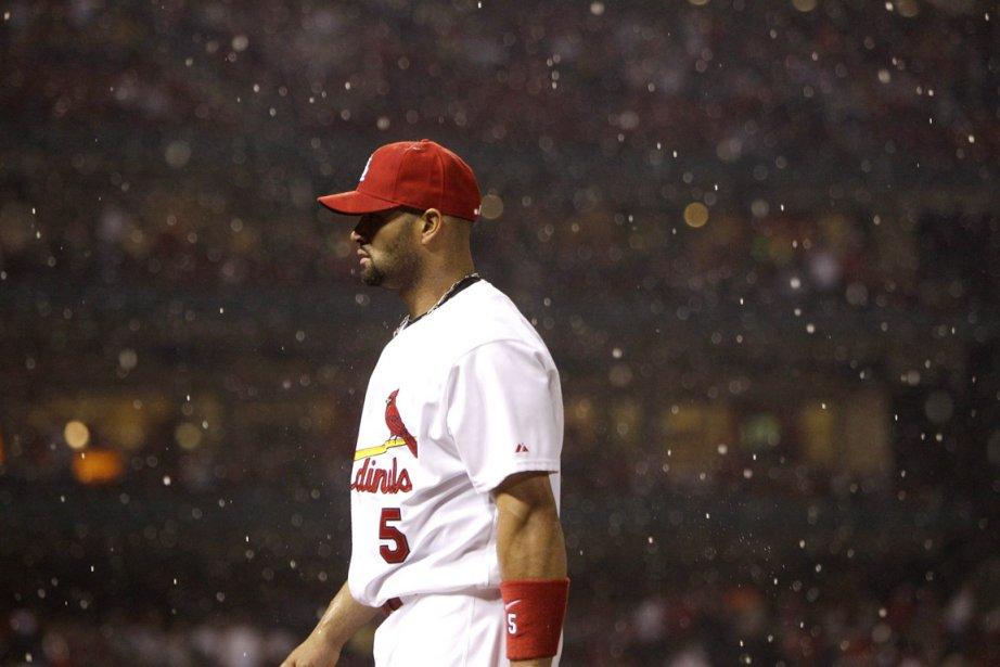 Pujols totalise en moyenne 41 longues balles et... (Photo: Jeff Roberson, AP)