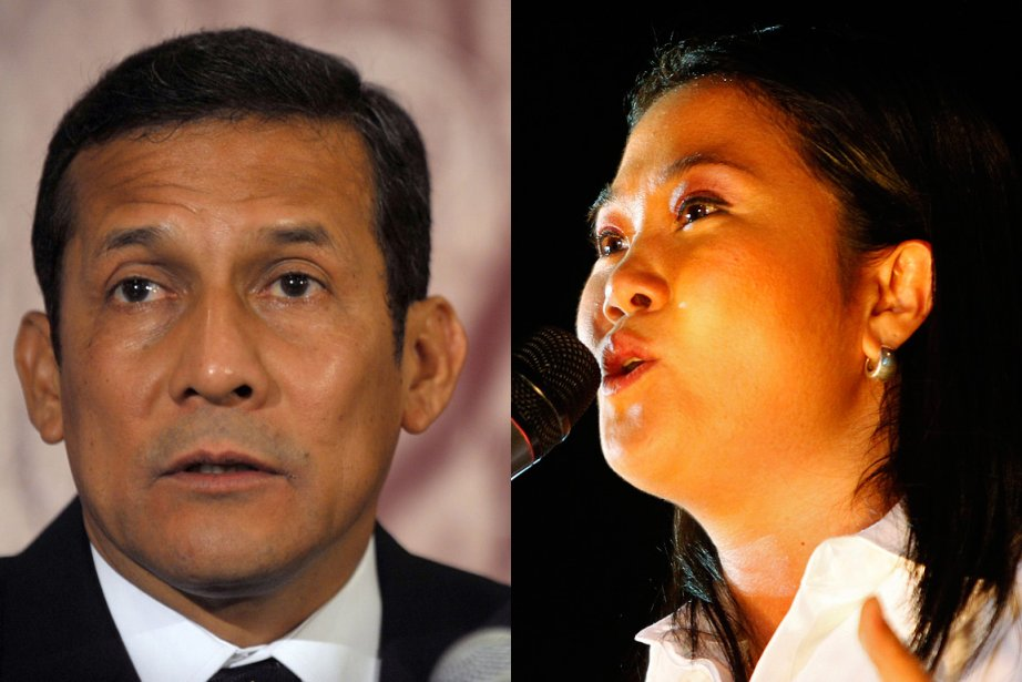 Ollanta Humala et Keiko Fujimori... (Photo: AFP/Reuters)