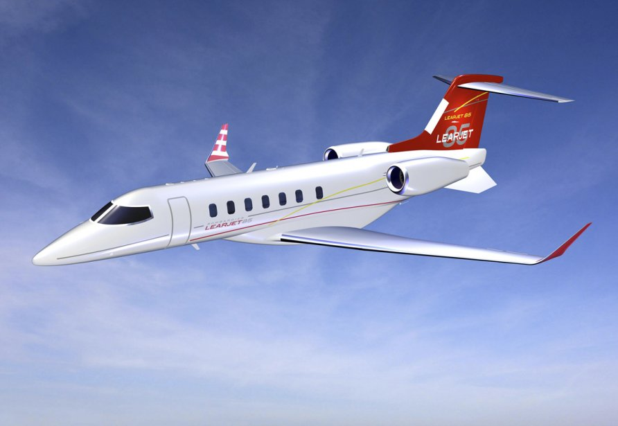 Le biréacteur Learjet 85 de Bombardier. Flexjeten recevra... (Photo fournie par Bombardier)