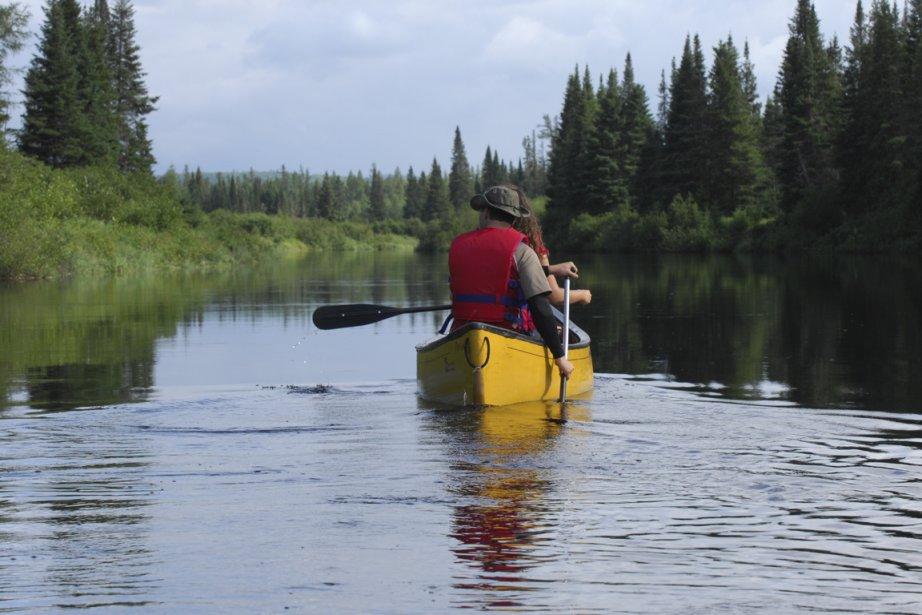 La descente de la rivière Matawin en canot... (Photo: Simon Diotte, collaboration spéciale)