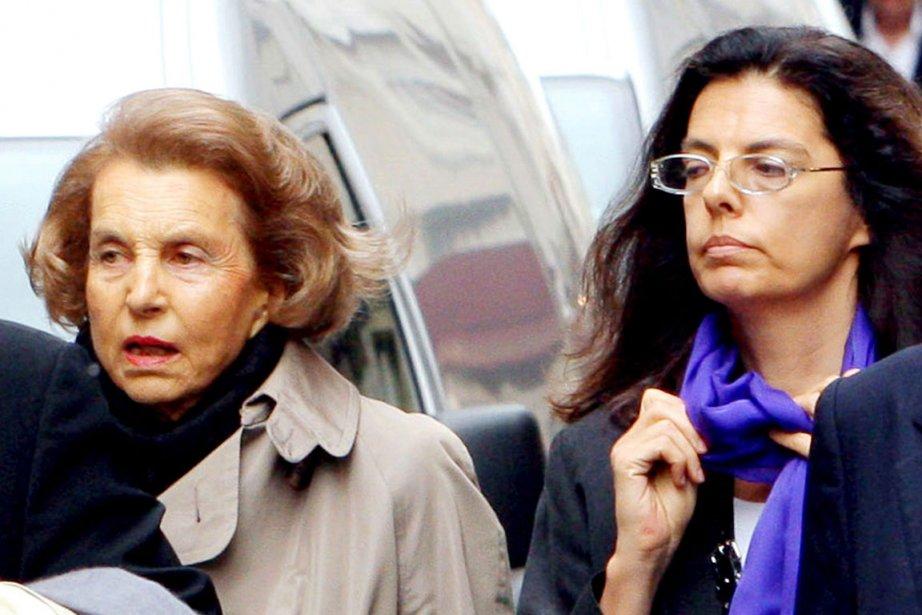 Liliane Bettencourt et sa fille Françoise Bettencourt-Meyers.... (Photo: AFP)