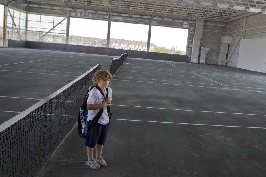 Le jeune Antoine Leblanc, 6 ans, était impatient... (Photo Ivanoh Demers, La Presse)