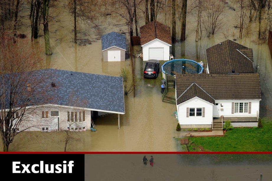 Les inondations de mai et juin ont endommagé... (Photo: Bernard Brault, Archives La Presse)